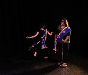 arwallah 2018 friday night highways performance space dancer Danish Bahndara and poet Aruni Wijesinghe