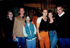 Backstage at Cirque du Soleil with Neil Patrick Harris and Jennifer Love Hewitt