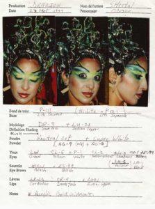 Make up design for Oceane in Cirque du Soleil_s Dralion